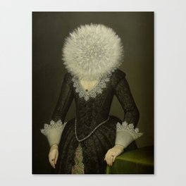 Woman with a Dandelion Head Canvas Print