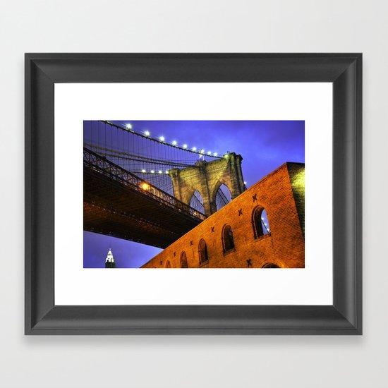 Brooklyn Bridge: NYC Framed Art Print