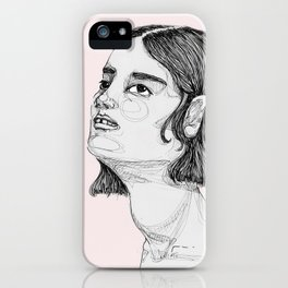 She's Looking Up iPhone Case