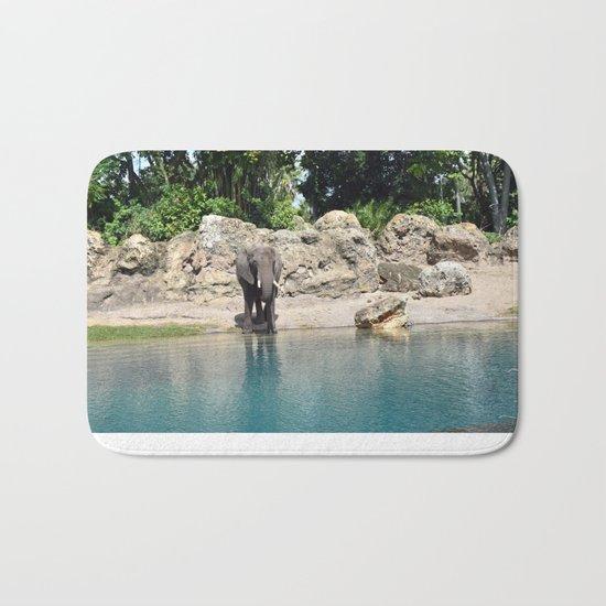 Elephant on the Water Bath Mat