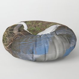 Just Right (Great Egret) Floor Pillow