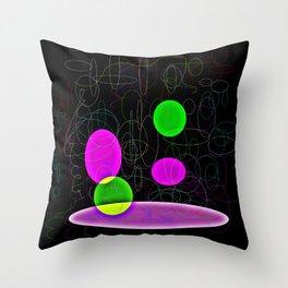 Floating Circles Throw Pillow