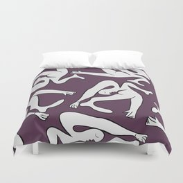 Picasso Pattern - Purple Background Duvet Cover