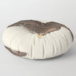 Koson Ohara - Eagle - Japanese Vintage Woodblock Painting Floor Pillow