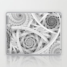 GET LOST - Black and White Spiral Laptop & iPad Skin