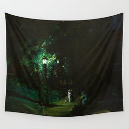 Central Park, Summer Night, Riverside Drive landscape by George Wesley Bellows Wall Tapestry