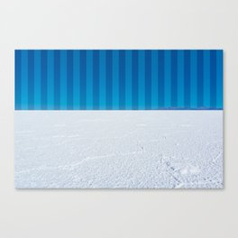 Striped Skies on the Salt Flats, Bolivia Canvas Print