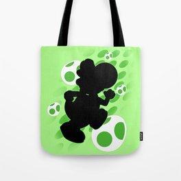 Super Smash Bros. Green Yoshi Silhouette Tote Bag