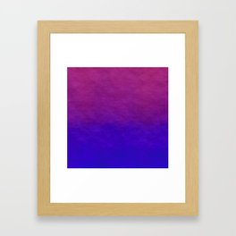 Deep Magenta Purple Ombre Watercolor Framed Art Print