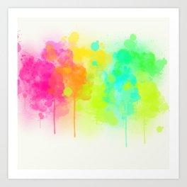 Dribbling Paint Art Print