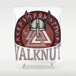 Valknut | Viking Warrior Symbol Triangle Shower Curtain
