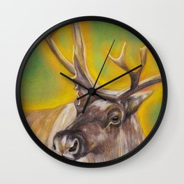 Glowing Caribou Wall Clock