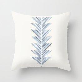 Herringbone Arrow - Cobalt Throw Pillow