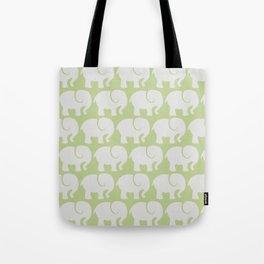 Troop Of Elephants (Elephant Pattern) - Gray Green Tote Bag