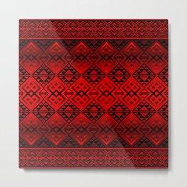 The Lodge (Red) Metal Print