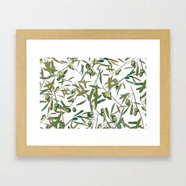 olive pattern Framed Art Print