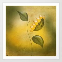 sunflower Art Prints featuring Sunflower by flamenco72