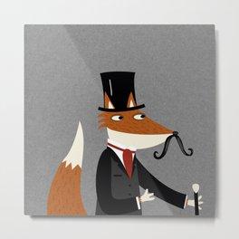 Gentleman Fox Metal Print