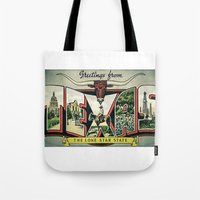 texas Tote Bags featuring Texas  by dawne photography