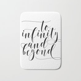 Printable Download File , To Infinity & Beyond , A4 Poster Bath Mat