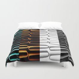 Lines | Abstract | Coloured Heating Coils | Nadia  Bonello Duvet Cover