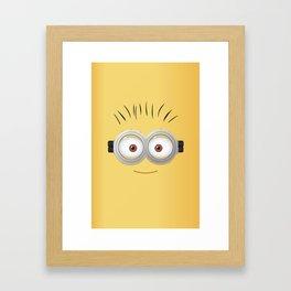 minion dave Framed Art Print
