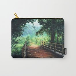 Landscape of nature with a wooden bridge Carry-All Pouch
