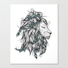 Poetic Lion Turquoise Canvas Print