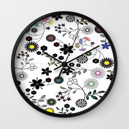 Graphic Floral Wall Clock