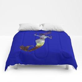 Galaxy Mermaid 2 (Navy) Comforters