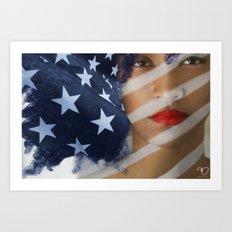 American Girl Art Print