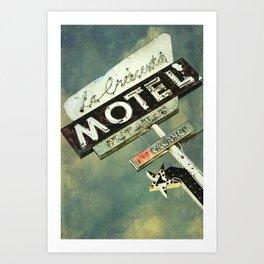 La Crescenta Vintage Motel Sign Art Print