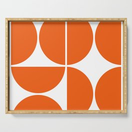 Mid Century Modern Orange Square Serving Tray