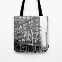 building Tote Bags featuring BUILDING by Stephanie Bosworth