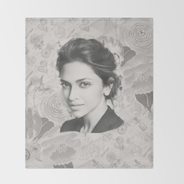 Deepika Padukone Art Throw Blanket