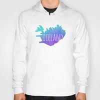 iceland Hoodies featuring Iceland by Stephanie Wittenburg