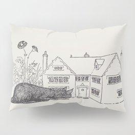 Johnny Crow's garden a picture book - L. Leslie Brooke - 1903 vintage Line Drawing Cat House Pillow Sham