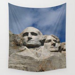 George Washington And Thomas Jefferson  - Mount Rushmore Wall Tapestry