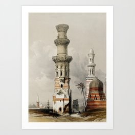 Ruined Mosques in The Desert, Egypt (1846) Art Print
