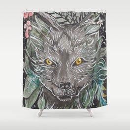 Keliki Wolf Shower Curtain