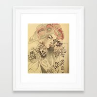 mucha Framed Art Prints featuring mucha chicano by Paolo Zorzenon