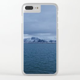 Snow-Capped Mountain, Iceland – Landscape Photography Clear iPhone Case