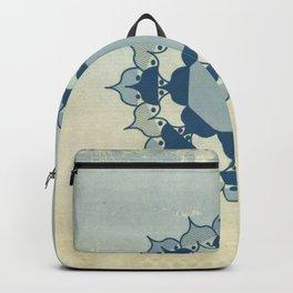 Lotus Mandala Light Blue Center Sand Water Wash Backpack