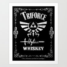 Triforce Whiskey Art Print