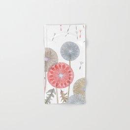 Red dandelions, watercolor Hand & Bath Towel