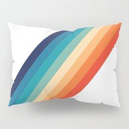 Retro 70s Stripe Colorful Rainbow Pillow Sham