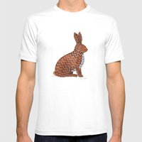 zig zag rabbit White 2X-LARGE Mens Fitted Tee