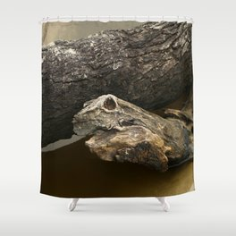 Ghost Snake Shower Curtain