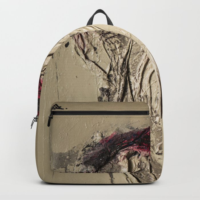 The Rose, Spray Painting on Canvas Backpack