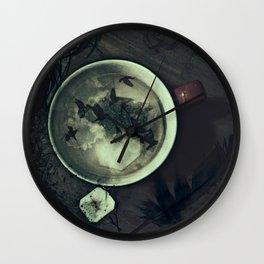 Tea & Ravens Wall Clock